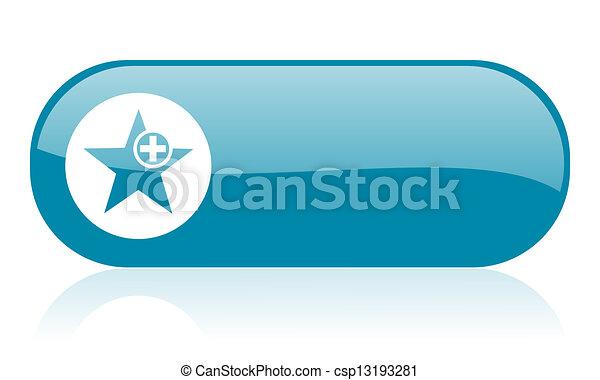 star blue web glossy icon - csp13193281