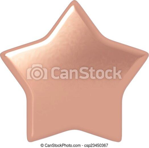 Estrella de bronce. - csp23450367