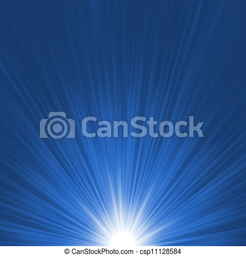 Star burst blue and white flare. EPS 8 - csp11128584