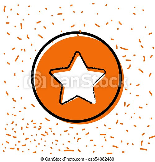 Star button icon - csp54082480