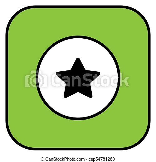 Star button icon - csp54781280