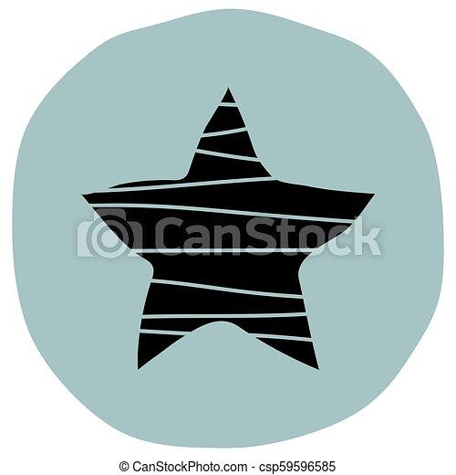 Star button icon - csp59596585