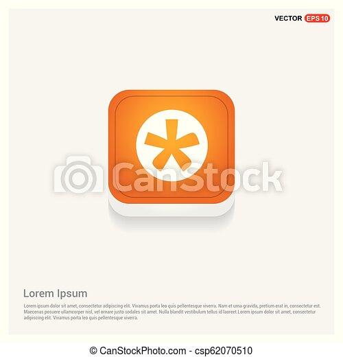 Star Button Icon - csp62070510