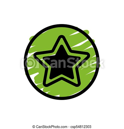 Star button icon - csp54812303