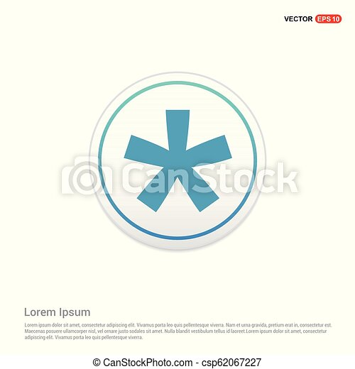Star Button Icon - white circle button - csp62067227