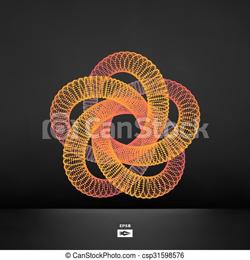 Star. Connection structure. Vector 3D illustration.   - csp31598576