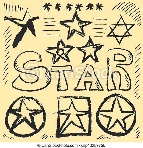 Star Doodles, hand drawn vector illustration - csp43259758