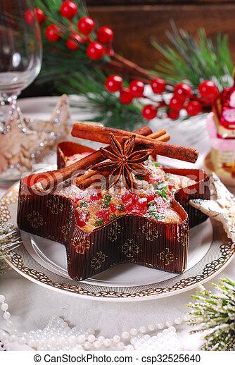 Star Entwickelte Getrocknete Fruchte Kuchen Weihnachten Star