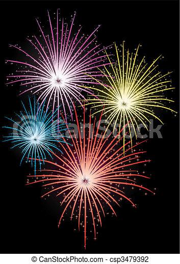 Star Firework Abstract Vector Illustration Of Fireworks
