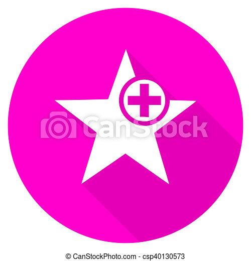 star flat pink icon - csp40130573