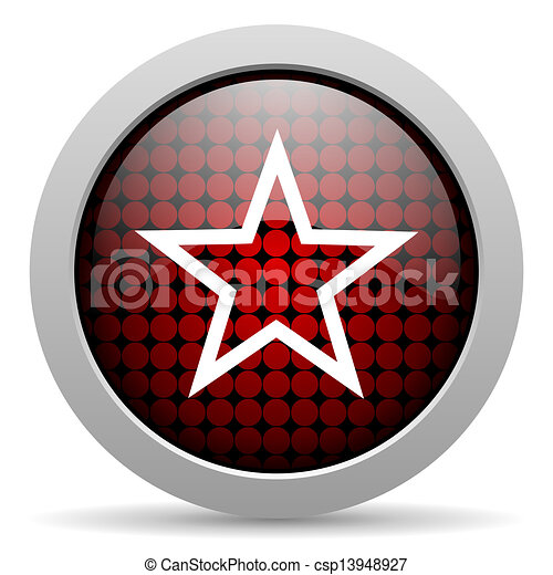 star glossy icon - csp13948927