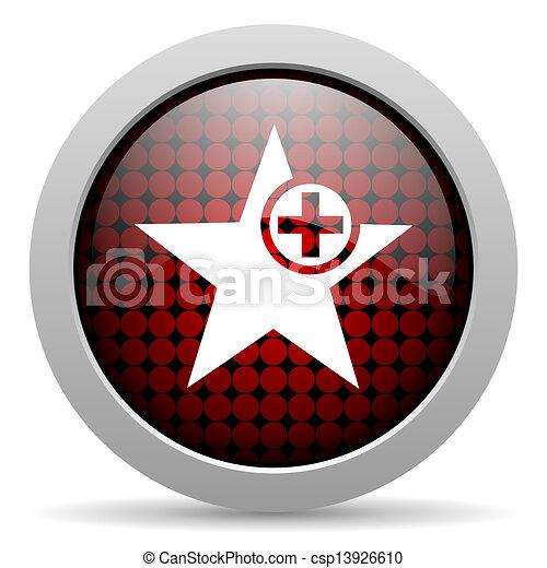 star glossy icon - csp13926610