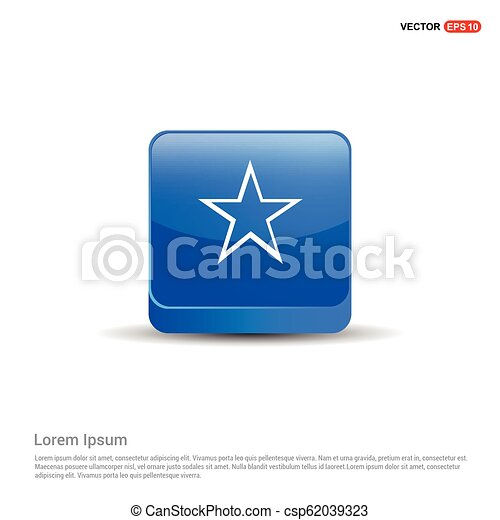 Star Icon - 3d Blue Button - csp62039323