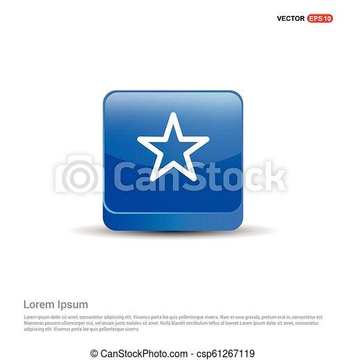 Star Icon - 3d Blue Button - csp61267119