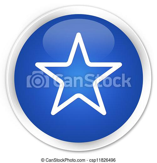 Star icon blue button - csp11826496