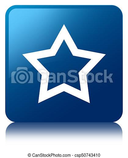 Star icon blue square button - csp50743410