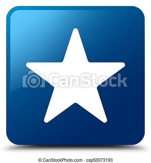 Star icon blue square button - csp50073193