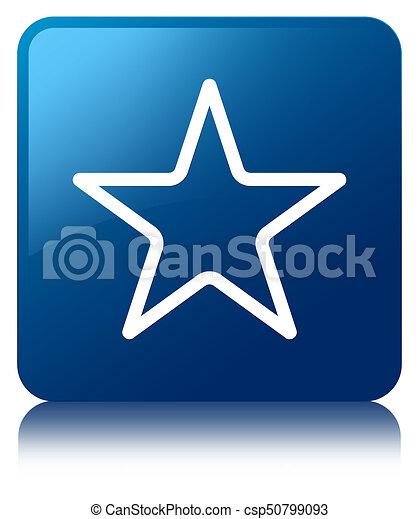 Star icon blue square button - csp50799093