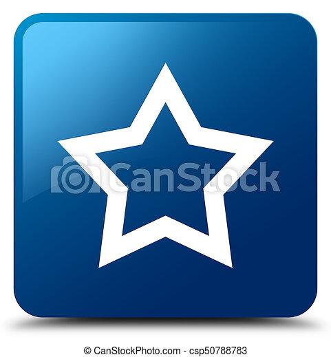 Star icon blue square button - csp50788783