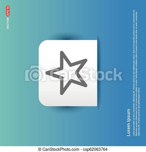 Star Icon - Blue Sticker button - csp62063764