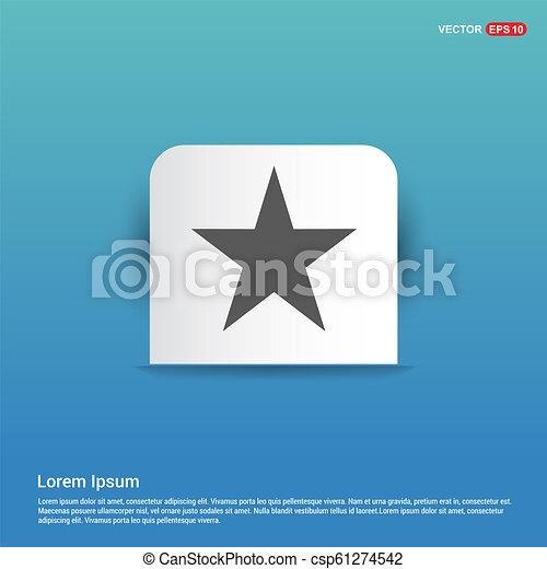 Star Icon - Blue Sticker button - csp61274542