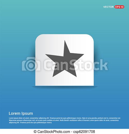 Star Icon - Blue Sticker button - csp62091708