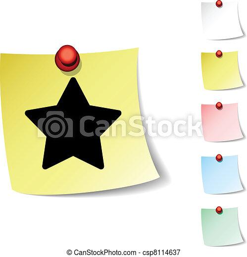 Star icon. - csp8114637