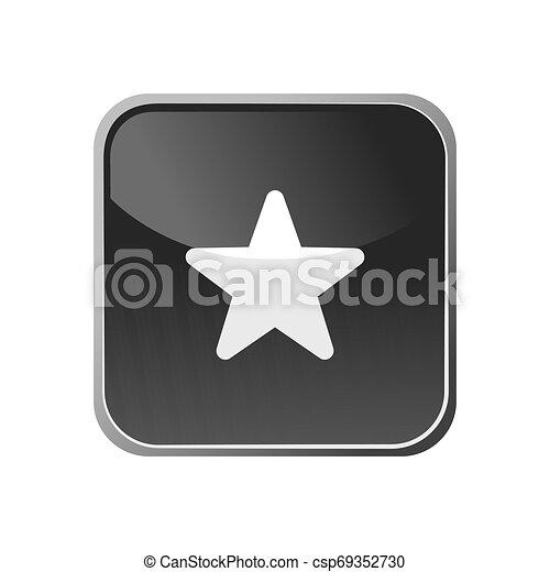 Star icon on a square button - csp69352730