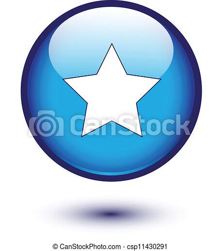 Star icon on blue - csp11430291