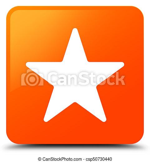 Star icon orange square button - csp50730440