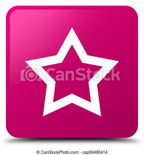 Star icon pink square button - csp50495414