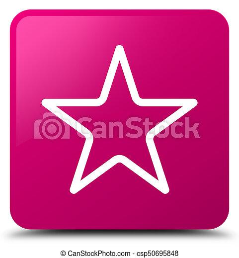 Star icon pink square button - csp50695848