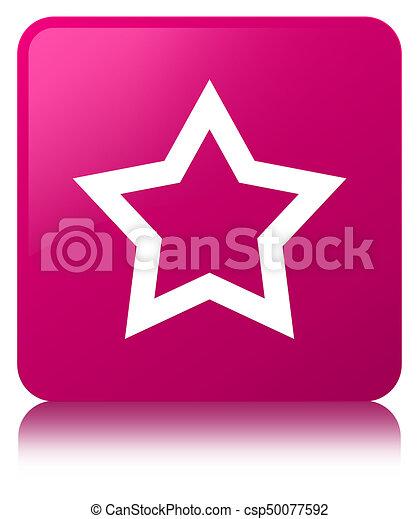 Star icon pink square button - csp50077592