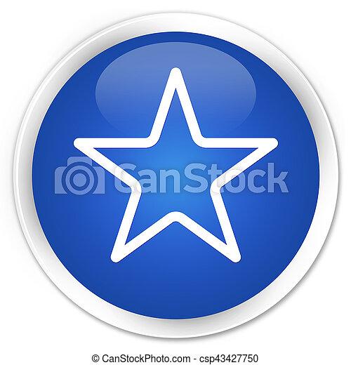 Star icon premium blue round button - csp43427750