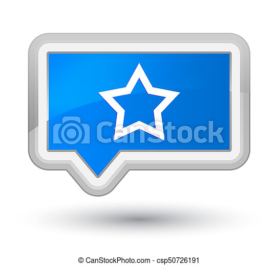 Star icon prime cyan blue banner button - csp50726191