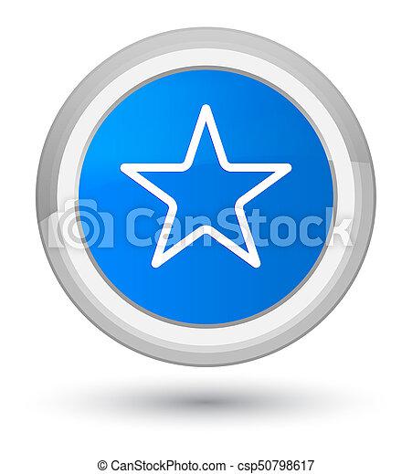 Star icon prime cyan blue round button - csp50798617