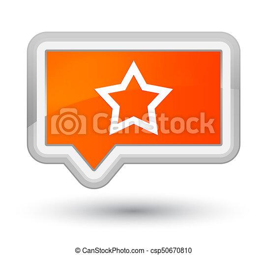 Star icon prime orange banner button - csp50670810