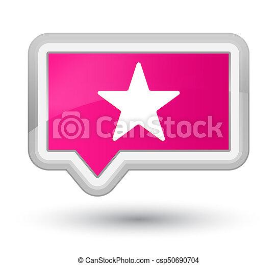 Star icon prime pink banner button - csp50690704