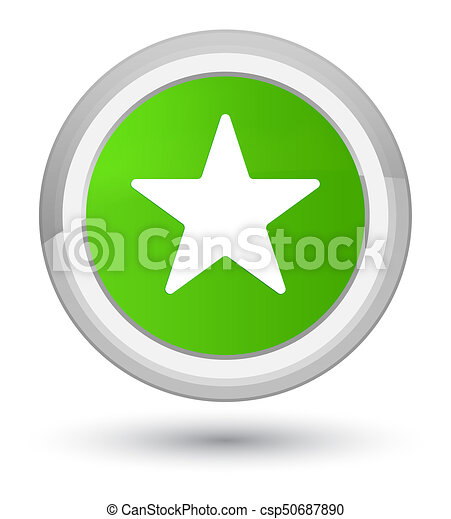 Star icon prime soft green round button - csp50687890