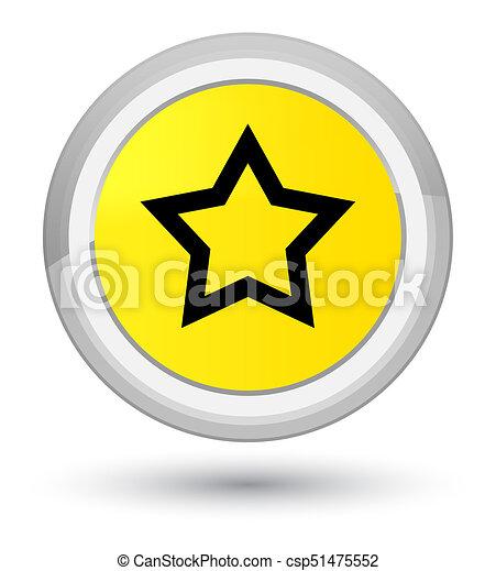 Star icon prime yellow round button - csp51475552