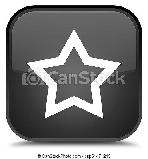 Star icon special black square button - csp51471245