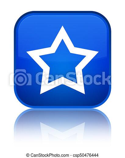 Star icon special blue square button - csp50476444