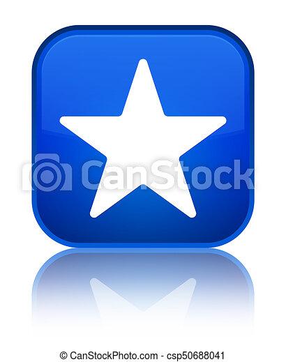 Star icon special blue square button - csp50688041