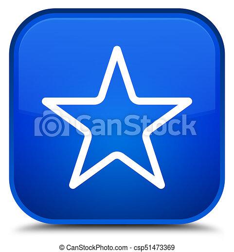 Star icon special blue square button - csp51473369