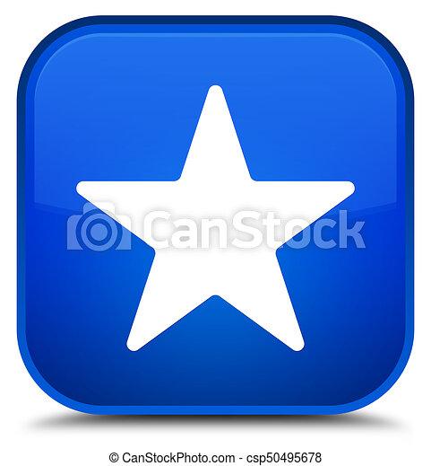 Star icon special blue square button - csp50495678