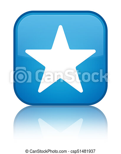 Star icon special cyan blue square button - csp51481937