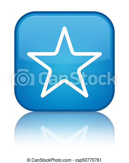 Star icon special cyan blue square button - csp50770761