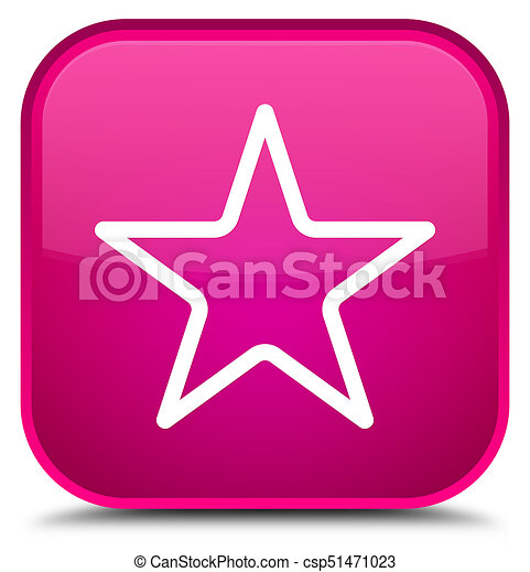 Star icon special pink square button - csp51471023