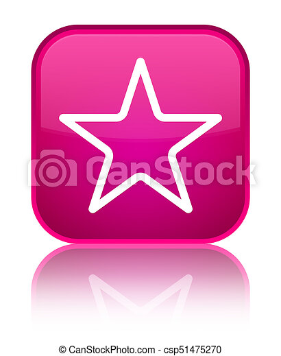 Star icon special pink square button - csp51475270