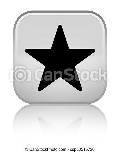 Star icon special white square button - csp50515720